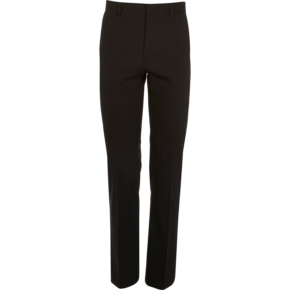 Black micro texture wool slim suit pants