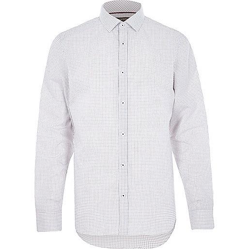 White micro gingham shirt