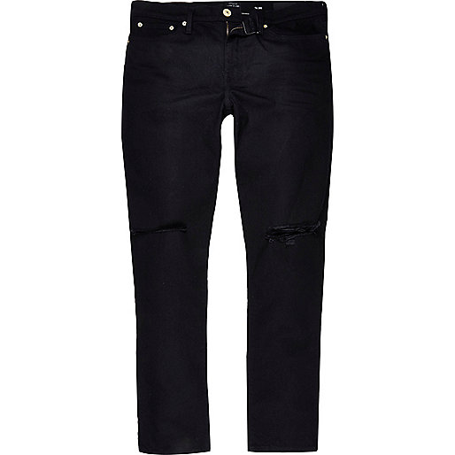 Black ripped Dylan slim jeans