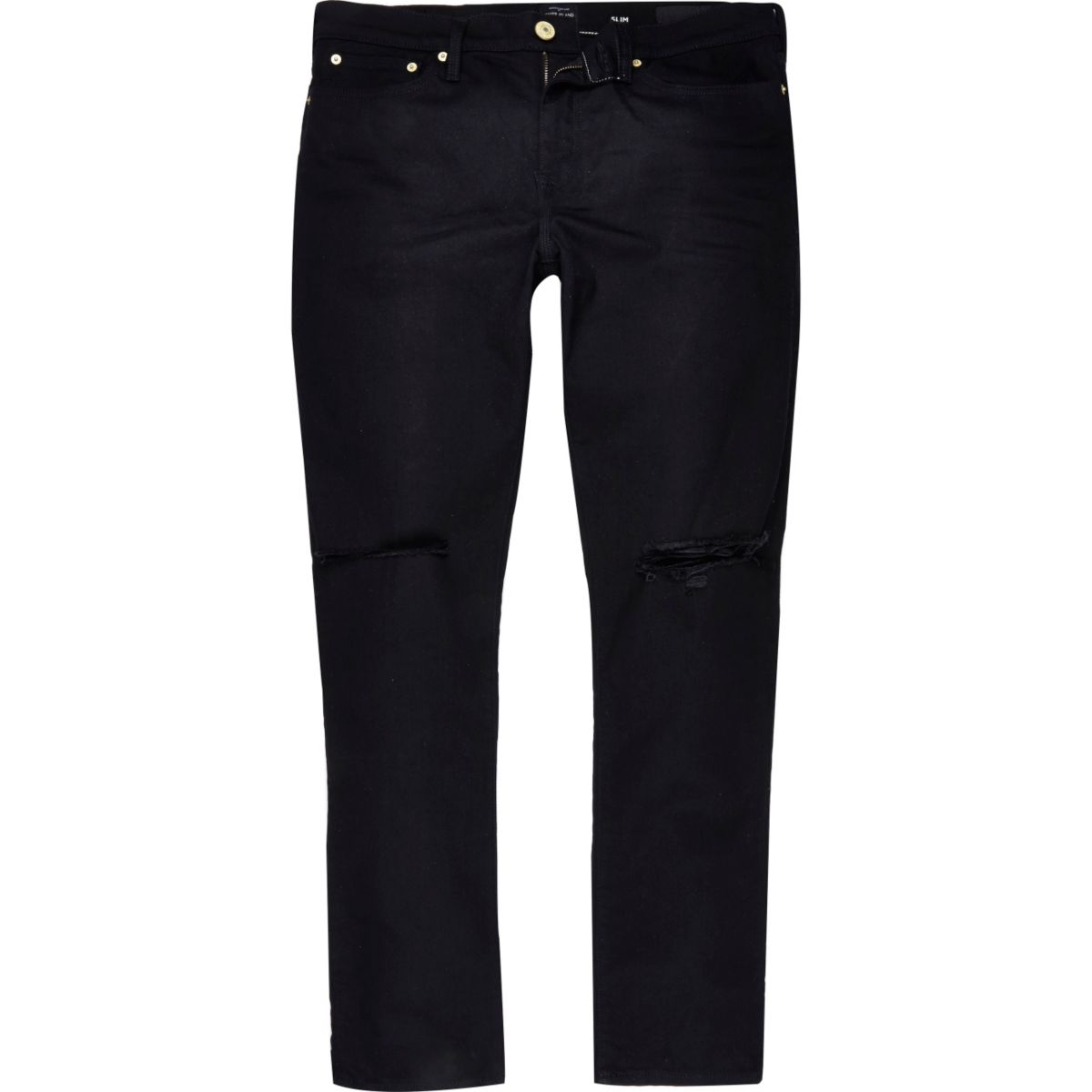 Black ripped Dylan slim jeans