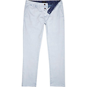 Light blue slim chinos