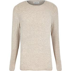 Stone lightweight textured sweater