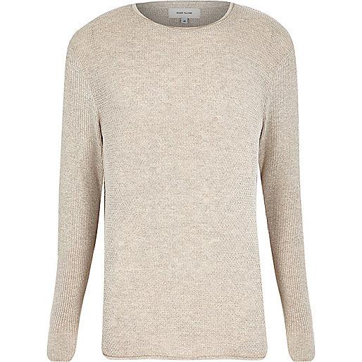Stone lightweight textured jumper