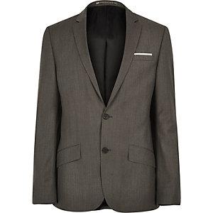 Braune Anzugjacke aus hochwertiger Wolle