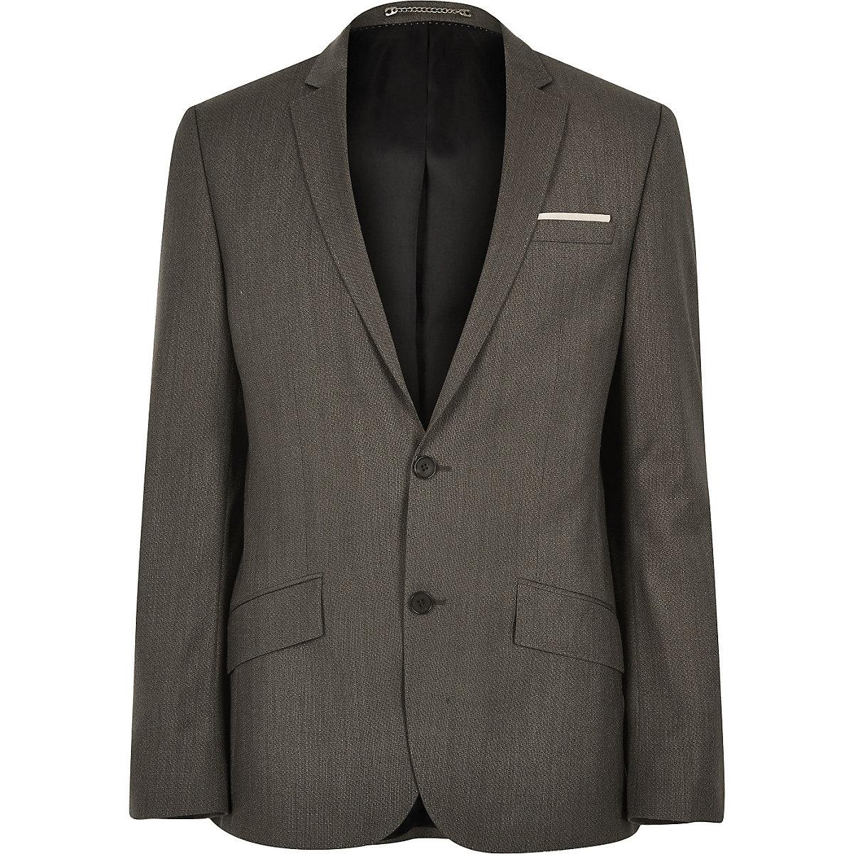 Brown premium wool suit jacket