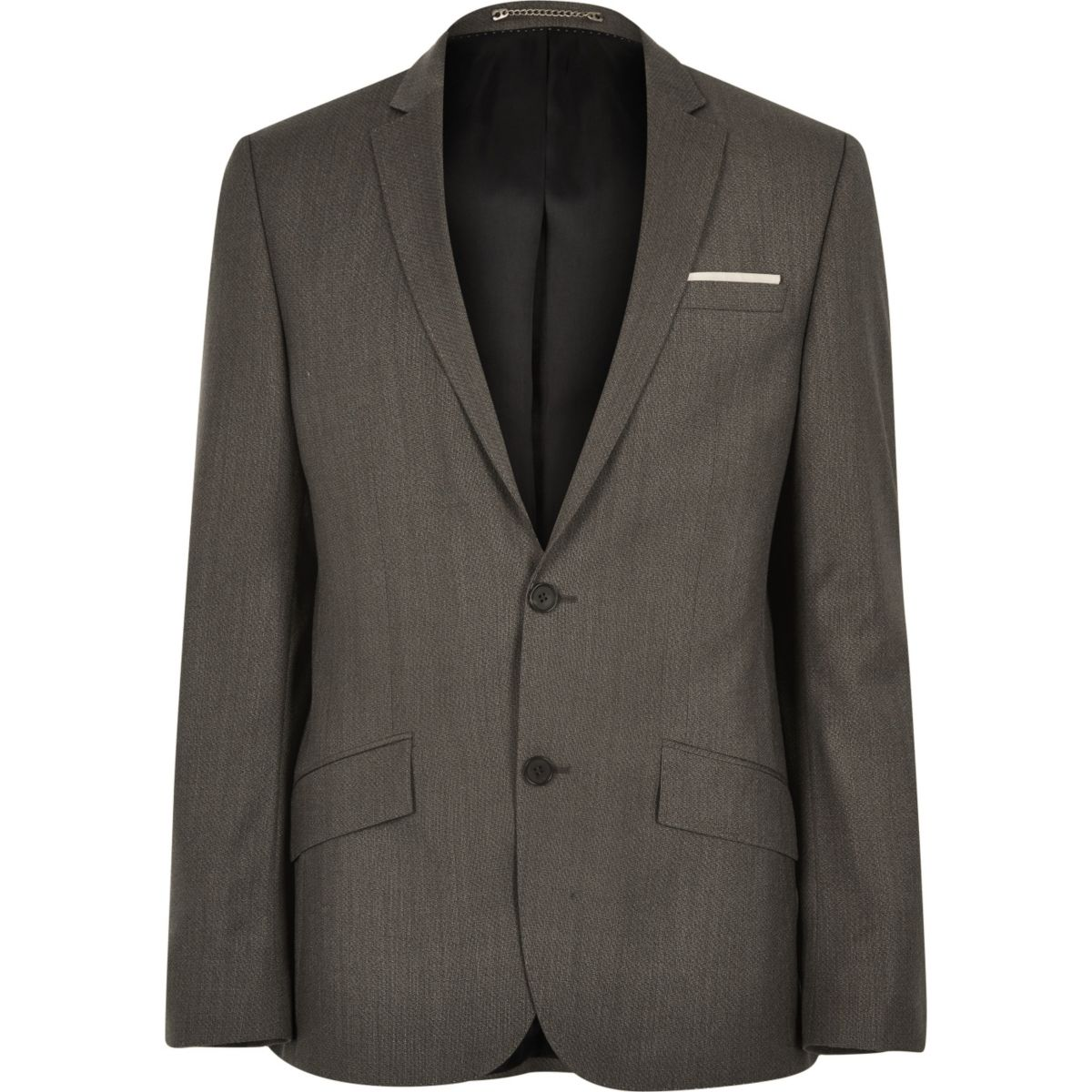 Veste de costume en laine marron de qualité supérieure