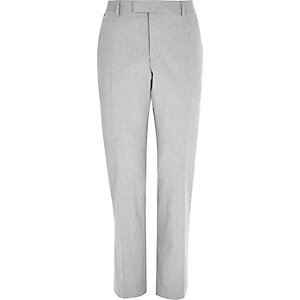 Light grey tailored slim trousers