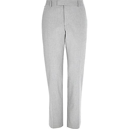 Light grey tailored slim pants