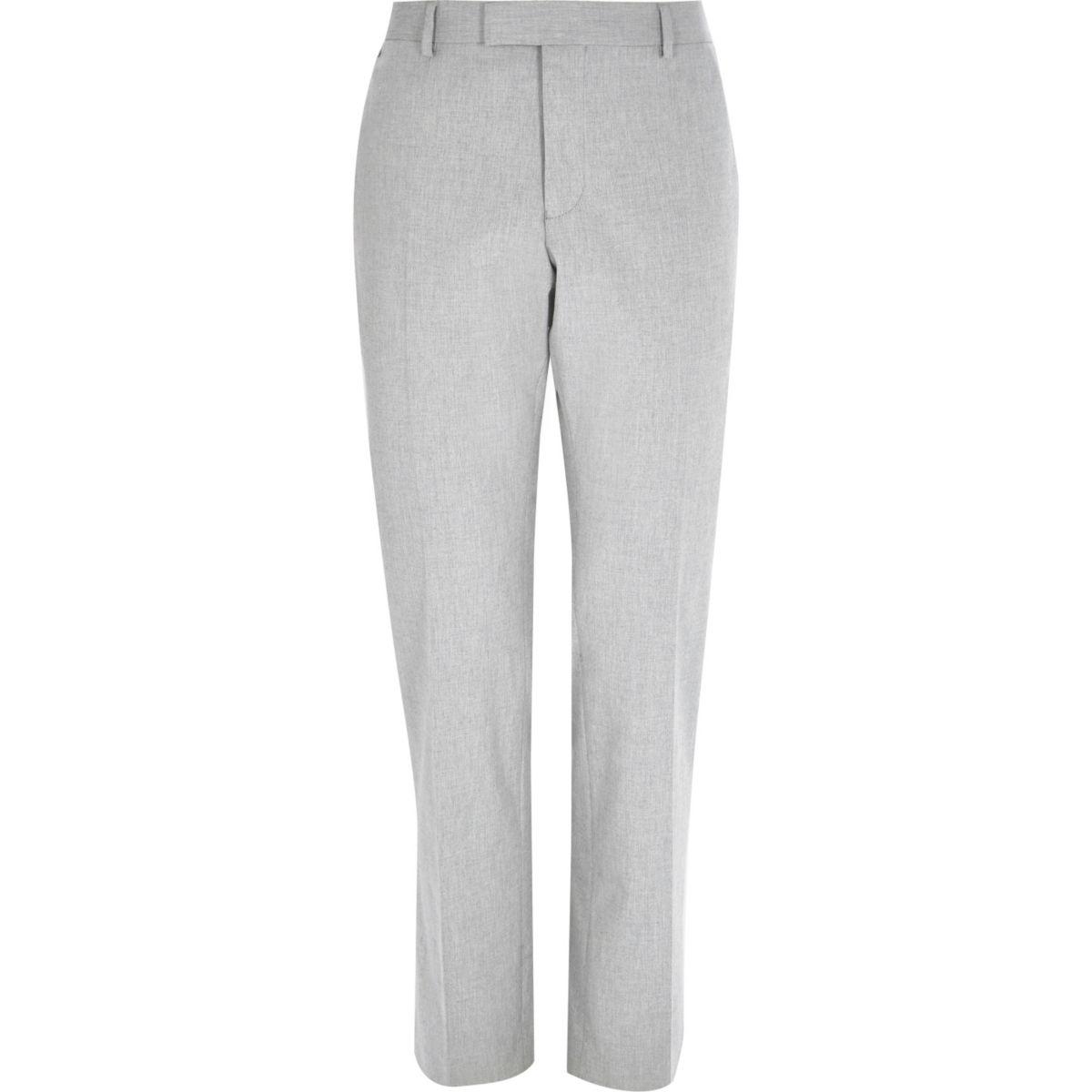 Light grey slim trousers