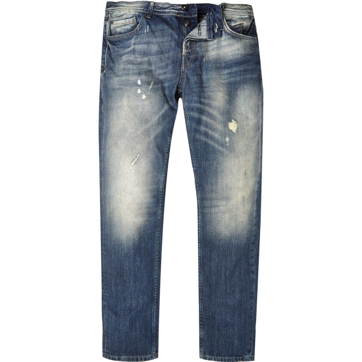 Dark blue distressed Only & Sons jeans