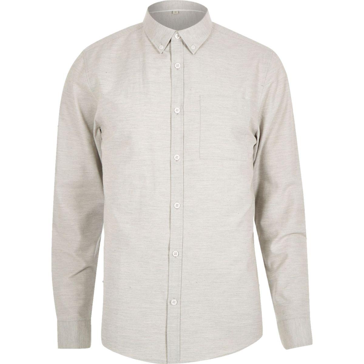 Grey marl long sleeve shirt