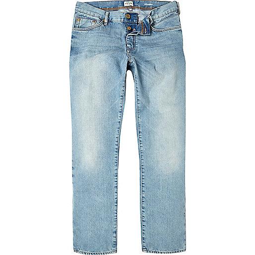 Light wash Dean straight jeans