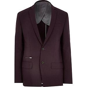 Veste de costume bordeaux très cintrée