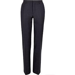 Purple check slim suit trousers