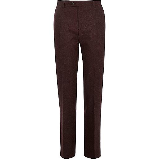 Berry wool-blend slim suit pants