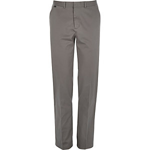 Grey smart stretch slim fit pants