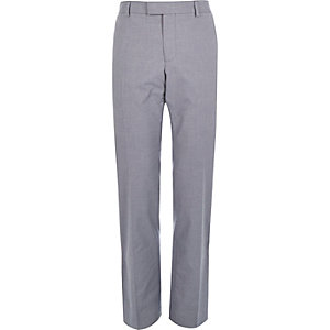 Blue chambray smart trousers