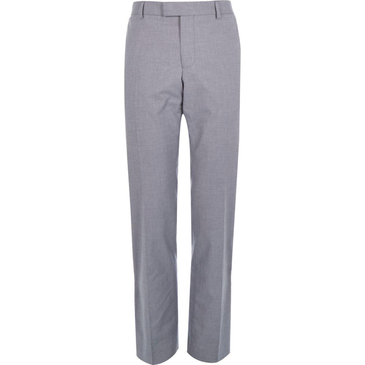 Pantalon habillé en chambray bleu