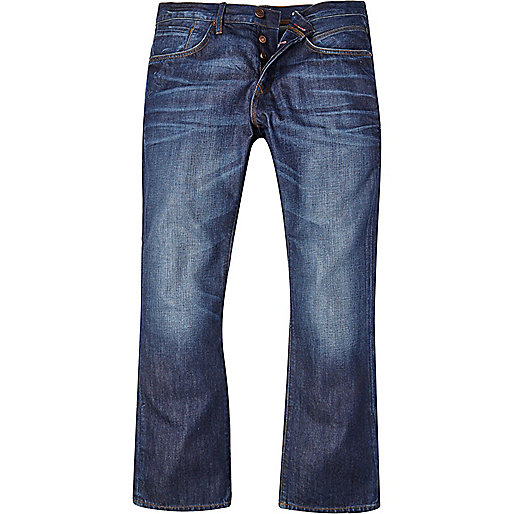 Mid wash Clint bootcut jeans