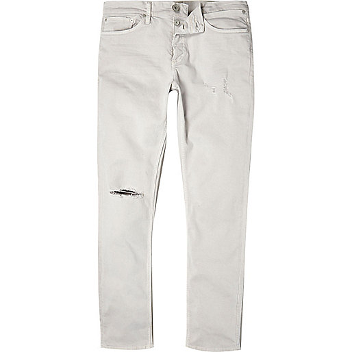 Off white ripped Sid skinny stretch jeans - jeans - sale - men
