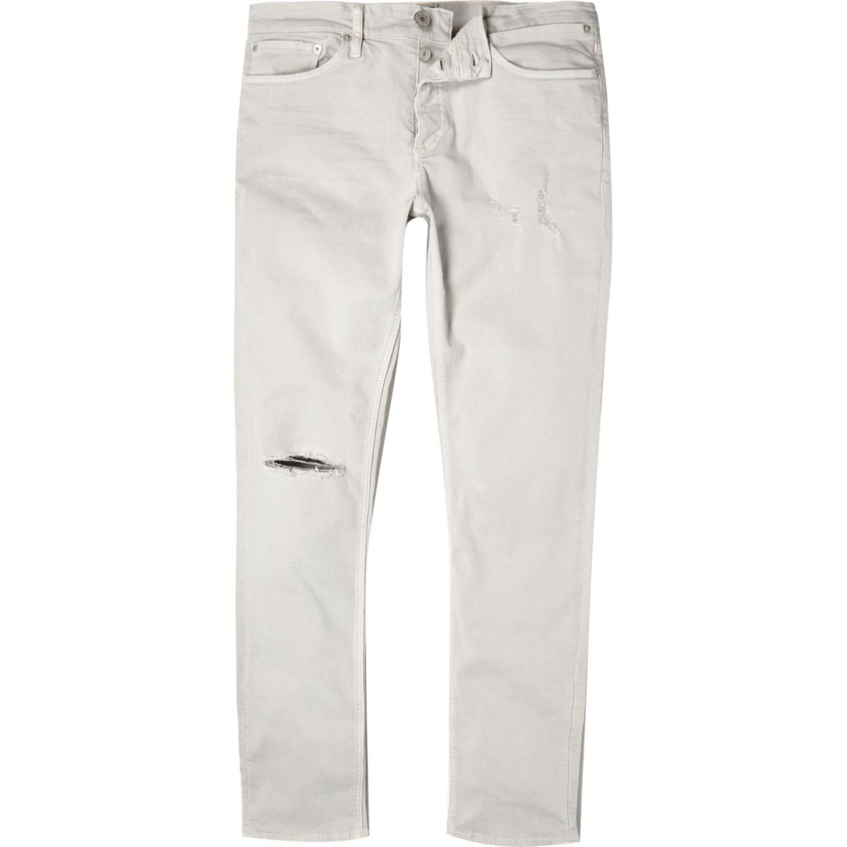 Off white ripped Sid skinny stretch jeans