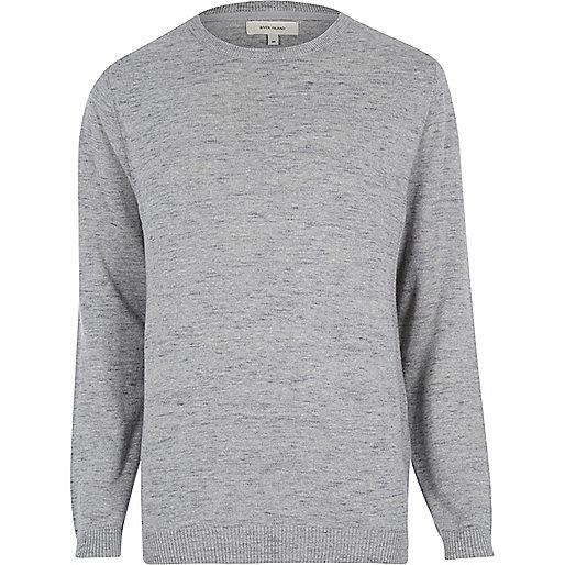 Grey marl melange jumper