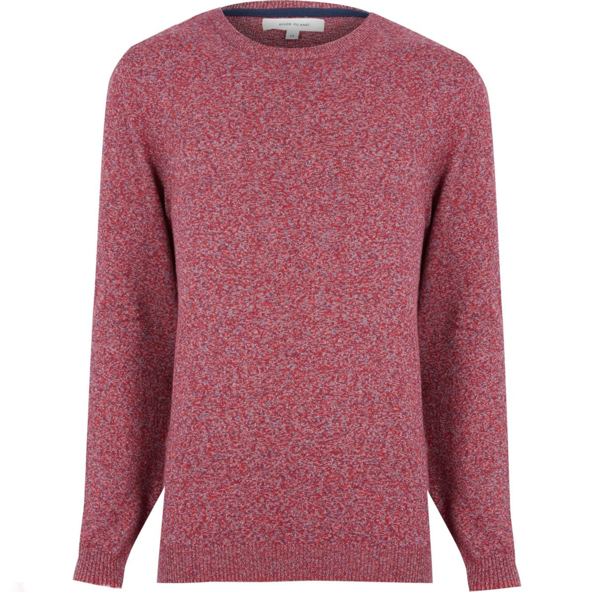 Red marl melange sweater