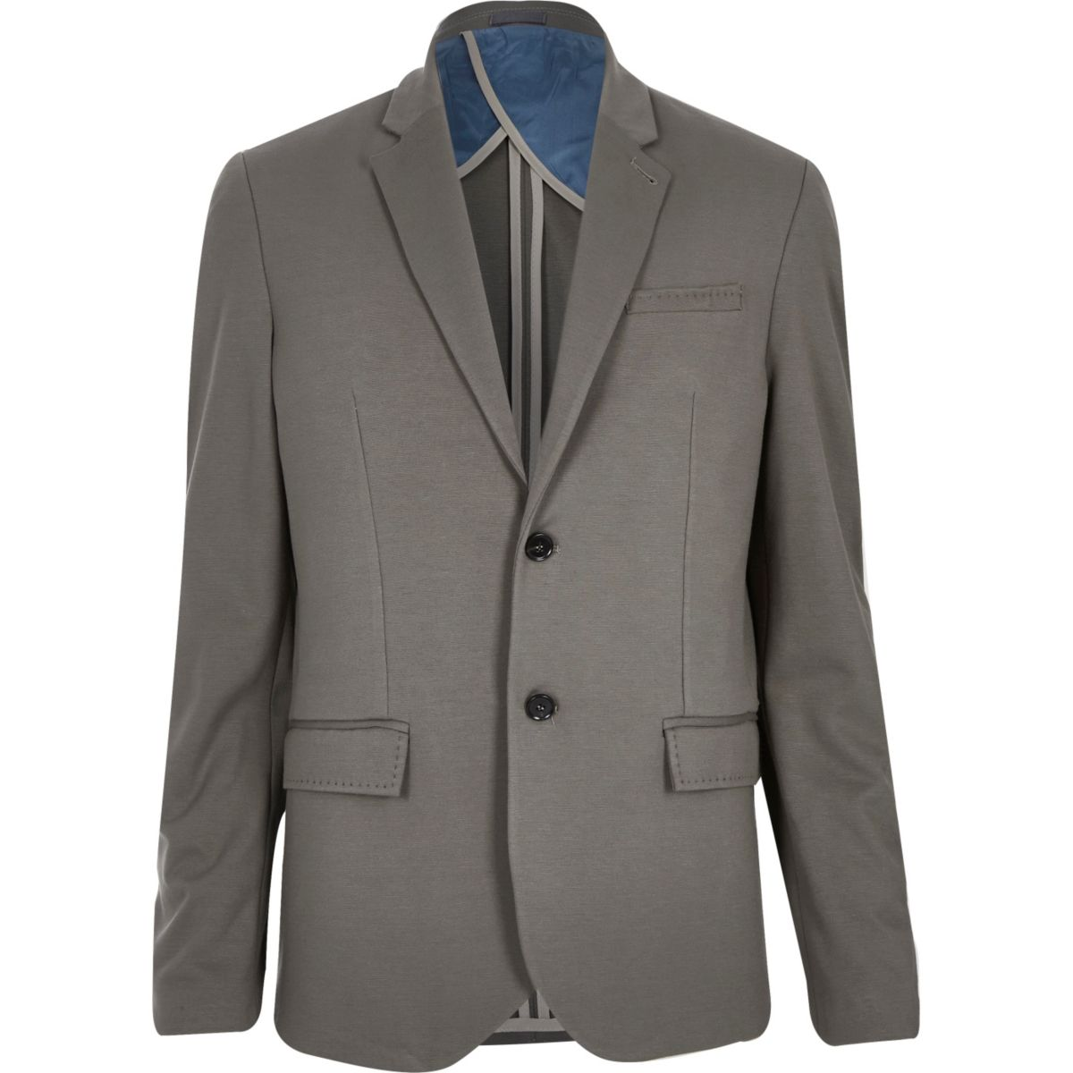 Mink brown jersey slim blazer