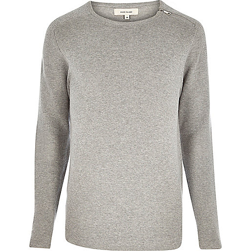 Grey zip neck sweater