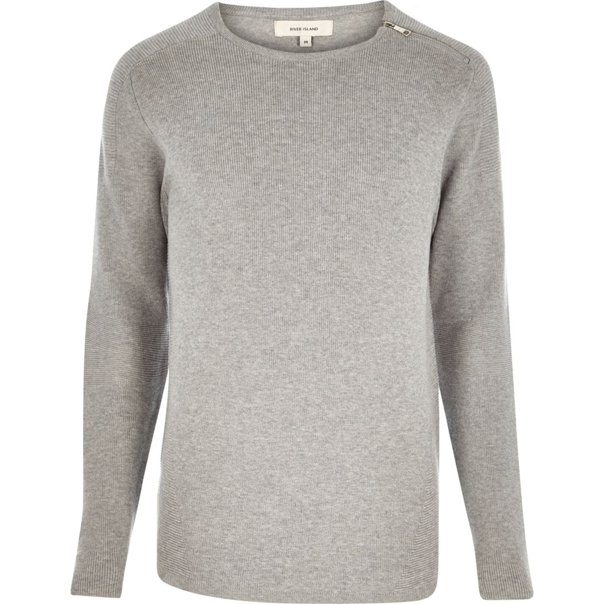 Grey zip neck jumper