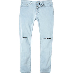 Light ripped Sid skinny stretch jeans