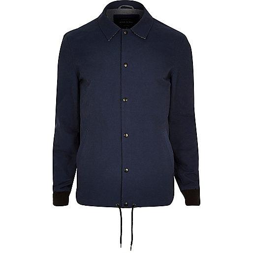 Navy casual coach jacket