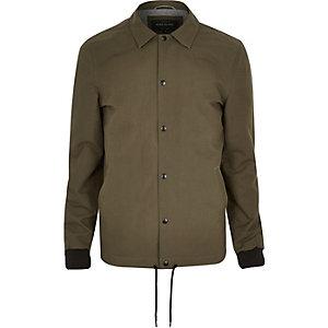 Green casual coach jacket