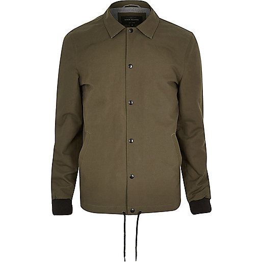 Green casual coach jacket
