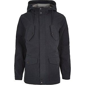 Navy hooded casual jacket