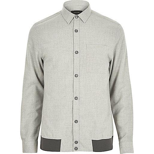 Grey long sleeve overshirt