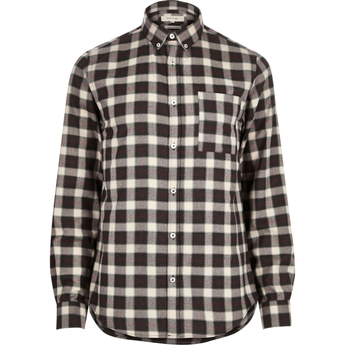 brown check soft flannel shirt shirts sale men