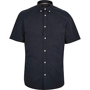 Navy twill short sleeve shirt