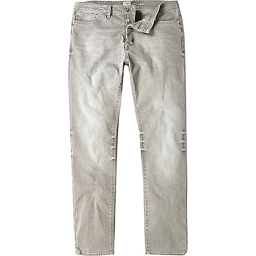 Worn grey Dylan slim fit jeans