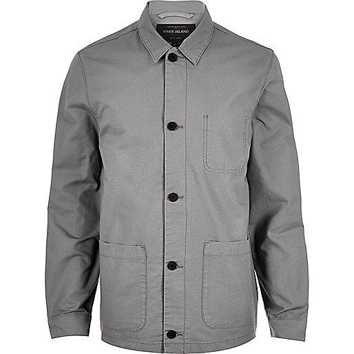 Grey utility worker jacket