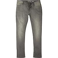 Sid – Graue Skinny Jeans mit Waschung