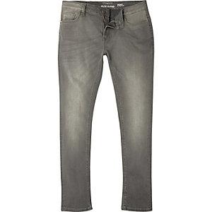 Sid - Grijze wash skinny jeans