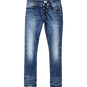 Blauwe vintage wash Sid skinny jeans