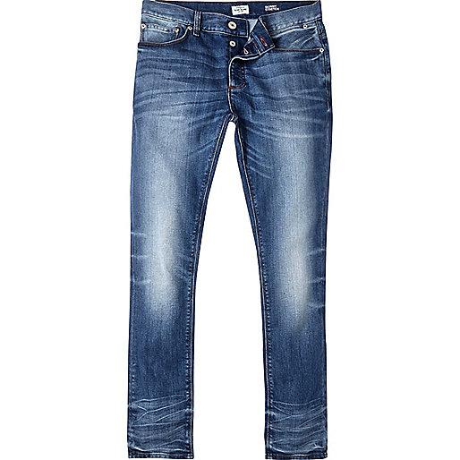 Jean skinny Sid bleu délavage vintage