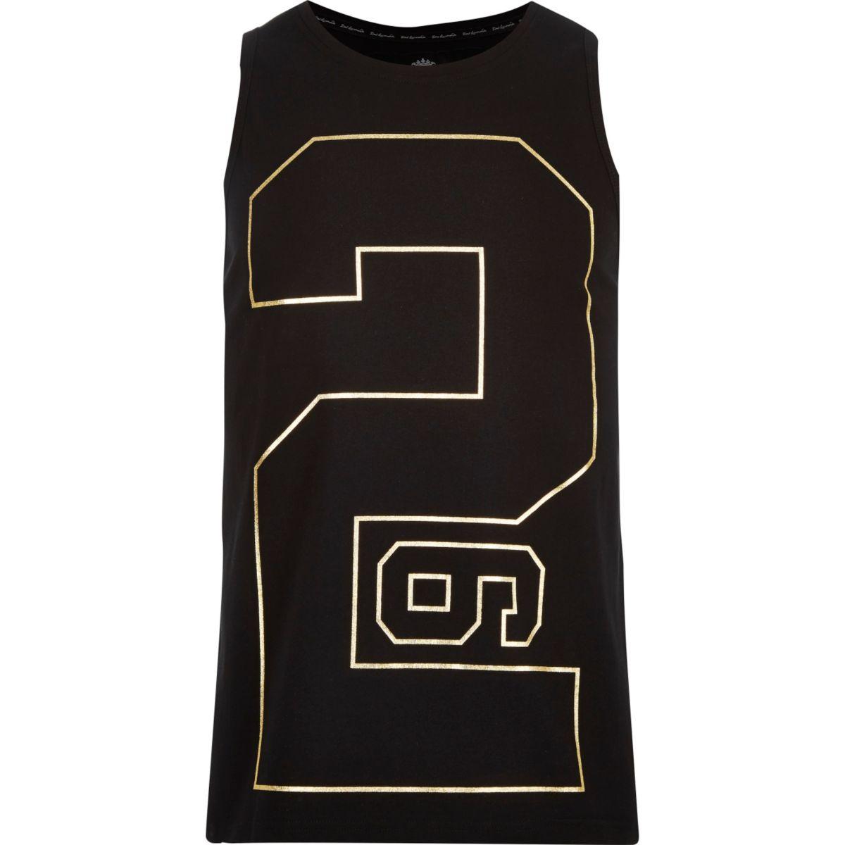 Black 26 Million number print vest