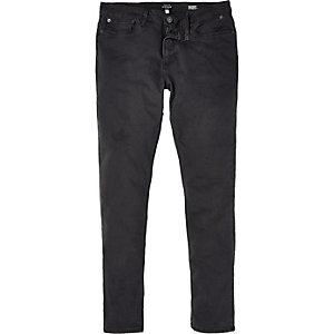 Grey grunge Sid skinny stretch jeans