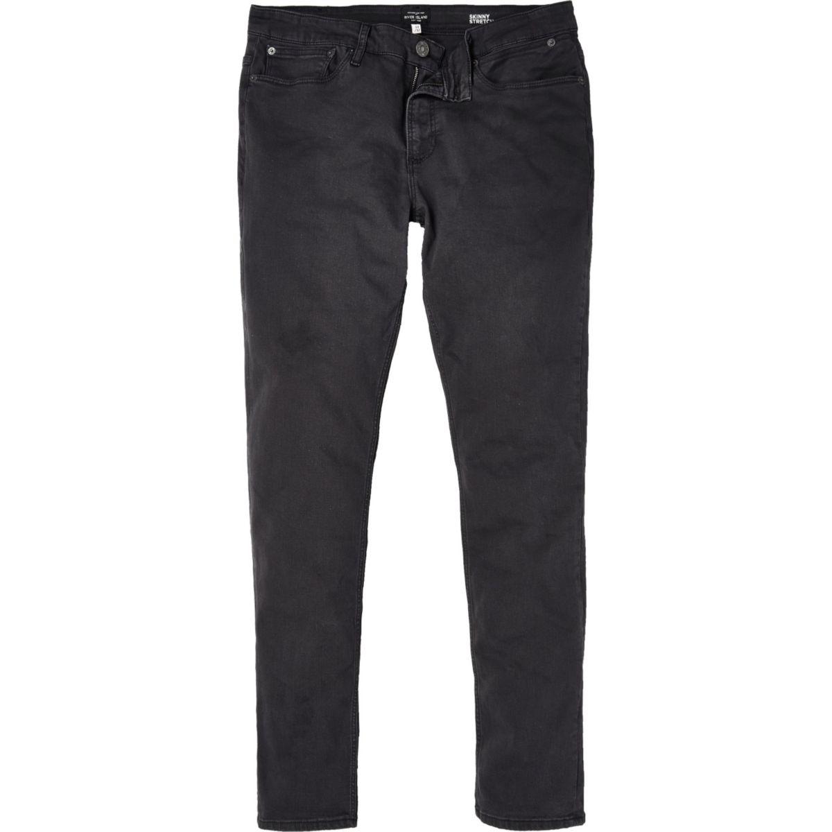 Grey grunge Sid skinny jeans