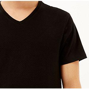 Black dotty texture t-shirt