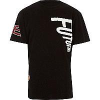 T-shirt Christopher Shannon noir avec empiècements
