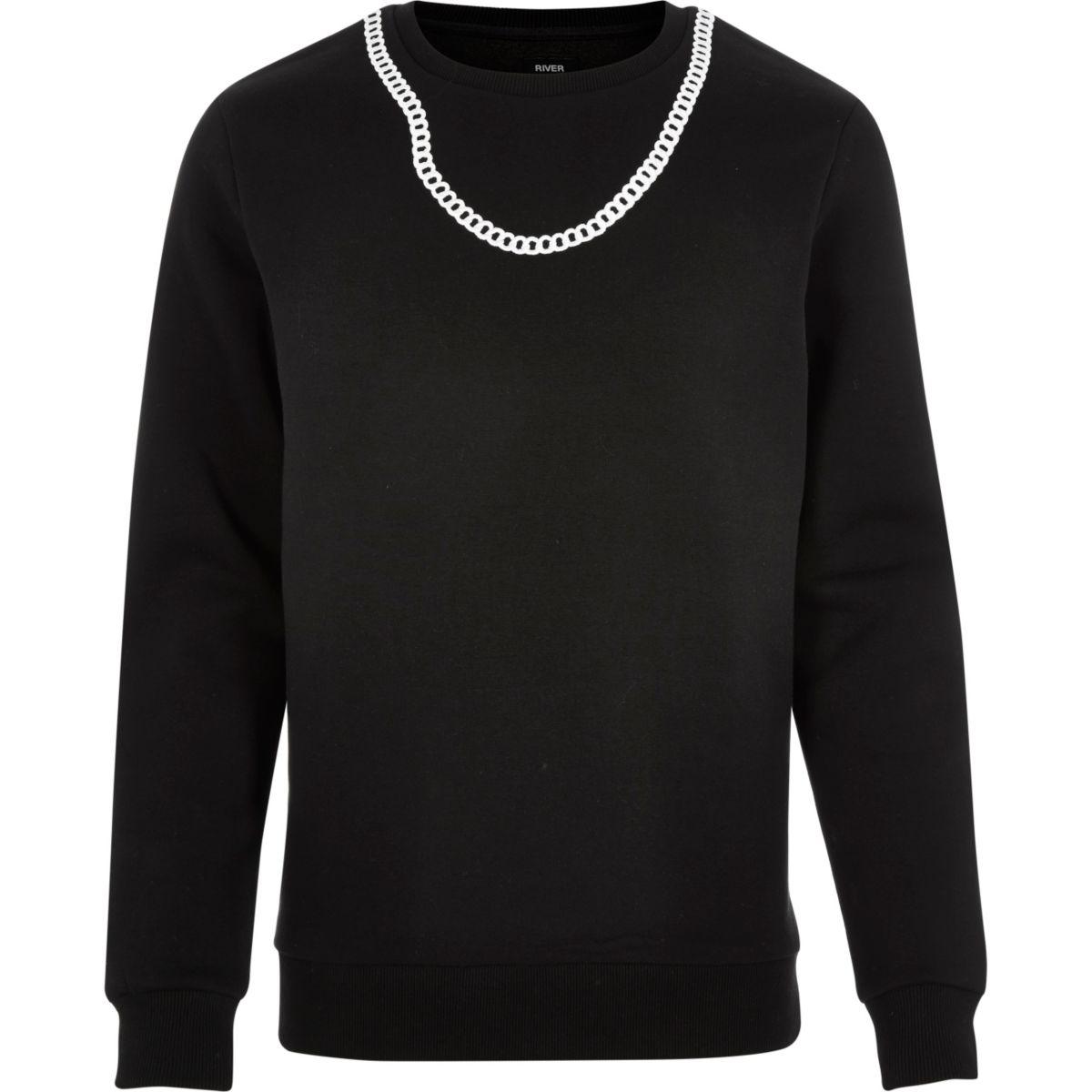 Zwart Christopher Shannon sweatshirt met ketting